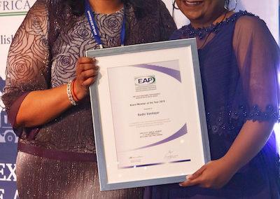 EAPA-SA Board Member of the year Radhi Vandayar